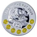 Ниуэ 1 доллар 2020 Год Крысы Лунный Календарь (Niue 1$ 2020 Year of the Rat Lunar Proof).Арт.65