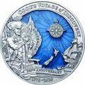 Соломоновы Острова 10 долларов 2020 Капитан Кук 250 лет Первому Путешествию (Solomon Isl 10$ 2020 Captain Cook Voyage of Discovery 250th Anniversary High Relief Enamel 3 Oz Silver Antique Coin).Арт.65
