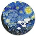 Палау 20 долларов 2019 Звездная Ночь Винсент Ван Гог серия Сокровища Микропазла (Palau 20$ 2019 Starry Night Van Gogh Micropuzzle Treasures 3 Oz Silver Coin).Арт.65