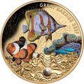 Ниуэ 100 долларов 2020 Морская Жемчужина Рыбы Большой Барьерный Риф Австралии (Niue 100$ 2020 Australia's Great Barrier Reef Saltwater Pearl 1oz Gold Proof Coin).Арт.65