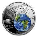 Ниуэ 1 доллар 2019 Солнечная Система Земля (Niue 1$ 2019 Solar System Earth 1Oz Silver Coin).Арт.67