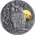 Ниуэ 5 долларов 2019 Ушастая Сова (Niue 5$ 2019 Long Eared Owl Asio Otus 2 oz Silver Coin).Арт.65