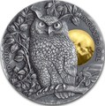 Ниуэ 5 долларов 2019 Ушастая Сова (Niue 5$ 2019 Long Eared Owl Asio Otus 2 oz Silver Coin).Арт.65