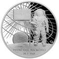 Ниуэ 2 доллара 2019 Первый Человек на Луне Космос (Niue 2$ 2019 First Man on the Moon 1 oz Silver Coin).Арт.CZ/65