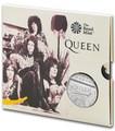 Великобритания 5 фунтов 2020 Куин Легенды Музыки (GB 5£ 2020 Queen Music Legends Brilliant Uncirculated Coin) Блистер.Арт.65
