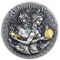 Ниуэ 5 долларов 2020 Афродита и Венера Богини (Niue 2020 5$ Aphrodite and Venus Goddesses 2oz Antique Finish Silver Coin).Арт.65