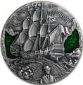 Камерун 2000 франков 2019 Корабль Баунти Кристиан Флетчер серия Золотой Век Мореплавания (Cameroon 2000 Francs 2019 HMS Bounty Golden Age of Sail 2 oz Silver Coins).Арт.Е85