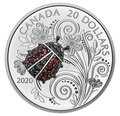 Канада 20 долларов 2020 Божья Коровка серия Насекомые из Драгоценных Камней (Canada 20$ 2020 Ladybug Bejeweled Bugs Silver Coin).Арт.Е85