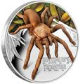 Тувалу 1 доллар 2020 Тарантул Паук серия Смертельно Опасные (Tuvalu 1$ 2020 Deadly Dangerous Tarantula 1oz Silver Coin).Арт.88