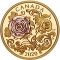 Канада 200 долларов 2020 Роза Королева Елизавета (Canada 200$ 2020 The Queen Elizabeth Rose 1 oz Gold Coin).Арт.85