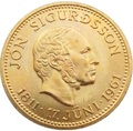 Исландия 500 крон 1961 Йоун Сигурдссон (Iceland 500 Kronur 1961 King Jon Sigurdsson Coin Gold).Арт.0001894044929/K0,52G/90