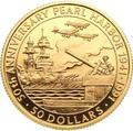 Соломоновы острова 50 долларов 1991 Перл Харбор Слаб (Solomon Isl 50$ 1991 Pearl Harbor 0,5oz Gold Coin PCGC PR69DCAM).Арт.K1,8G/92
