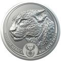 Южная Африка 5 рандов 2020 Леопард Большая Африканская Пятерка (South Africa 5R 2020 Leopard Big Five 1oz Silver Coin) Блистер.Арт.92