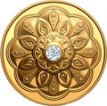 Канада 200 долларов 2020 Бриллиант Черная Метка Круг ( Canada 200$ 2020 Forevermark Black Label Round Diamond 1oz Gold Coin ).Арт.92