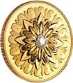 Канада 200 долларов 2019 Бриллиант Черная Метка Квадрат ( Canada 200$ 2019 Forevermark Black Label Square Diamond 1oz Gold Coin ).Арт.92