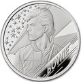 Великобритания 1 фунт 2020 Дэвид Боуи Легенды Музыки ( GB 1£ 2020 David Bowie Music Legends Half oz Silver Proof Coin ).Арт.92E