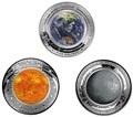 Австралия 5 долларов 2018/19 Земля Луна Солнце серия За Пределами Земли Набор Три Монеты Выпуклая (Australia 2018/19 $5 Earth Moon Sun Beyond the Earth Silv Proof Domed Coin).Арт.92