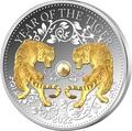 Фиджи 10 долларов 2022 Год Тигра Лунный Календарь Жемчужина ( Fiji 10$ 2022 Lunar Tiger Pearl 1 oz Silver Coin ).Арт.92