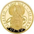 Великобритания 100 фунтов 2021 Грифон Эдуарда III серия Звери Королевы (GB 100£ 2021 Queen's Beast Griffin of Edward III 1oz Gold Proof Coin).Арт.90
