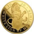 Великобритания 500 фунтов 2020 Белый Лев Мортимера серия Звери Королевы (GB 500£ 2020 Queen's Beast White Lion of Mortimer 5oz Gold Coin).Арт.90