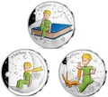 Франция 10 евро 2021 Маленький Принц Книга Луна Лиса Набор Три Монеты ( France 10 euro 2021 The Little Prince Masterpiece Moon Fox Silver Set 3 Coins ).Арт.90