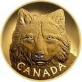 Канада 2500 долларов 2017 Лесной Волк Килограмм ( Canada 2500$ 2017 In The Eyes of a Timber Wolf Kilo Gold Coin ).Арт.92