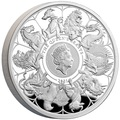 Великобритания 2 фунта 2021 Звери Королевы (GB 2£ 2021 Queen's Beast 1oz Silver Proof Coin).Арт.92
