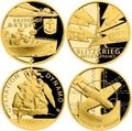 Ниуэ 4х25 долларов 2020 Великая Отечественная Война 1940 год Набор Золотых Монет Нарвик Франция Операция Динамо Британия Корабль Самолет Танк (Niue 4х25$ 2020 Set Gold Coins War 1940 Narvik France Operation Dynamo Britain).Арт.K5G/92