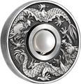 Тувалу 1 доллар 2017 Дракон и Жемчуг (Tuvalu 1$ 2017 Dragon & Pearl 1oz Siler Coin).Арт.92