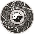 Тувалу 1 доллар 2016 Инь Янь Вращающийся Шарм (Tuvalu 1$ 2016 Yin Yang Rotating Charm 1oz Siler Coin).Арт.92