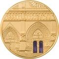 Палау 500 долларов 2021 Метрополис Нотр-Дам де Пари серия Тиффани (Palau 500$ 2021 Metropolis Notre-Dame Tiffany Art 5oz Gold Coin).Арт.92
