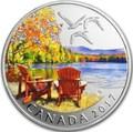 Канада 10 долларов 2017 Осенняя Палитра (2017 Canada $10 Autumn's Palette 1/2 oz Silver Coin).Арт.92