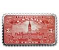 Канада 20 долларов 2018 Здание Парламента 1927 серия Исторические Марки Канады (2018 Canada $20 Parliament Building 1927 Canada's Historical Stamps 1oz Silver Coin).Арт.92