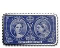 Канада 50 центов 2019 Бриллиантовая Юбилейная Марка Королевы Виктории (2019 Canada 50 cents Queen Victoria Diamond Jubilee Stamp Canada's Historical Stamps 1oz Silver Coin).Арт.92