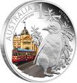"""Австралия 1 доллар 2010. """"Празднование Австралии"""" """"Штат Виктория Мельбурн"""" """"Пингвин"""""""