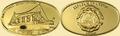 Либерия 15 долларов 2005 Титаник Корабль (Liberia 15$ 2005 R.M.S. Titanic Gold Coin).Арт.