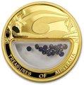 Австралия 100 долларов 2007 Сокровища Австралии Инкапсулированные Сапфиры (Australia 100$ 2007 Treasures of Australia Sapphires 1oz Gold Proof Coin).Арт.K3,5G