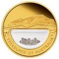 """Австралия 100 долларов 2009. """"Сокровища Австралии"""" (с инкапсулированными алмазами)"""