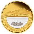 Австралия 100 долларов 2009 Сокровища Австралии Инкапсулированные Алмазы (Australia 100$ 2009 Treasures of Australia Diamonds 1oz Gold Proof Coin).Арт.K3,5G