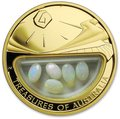 Австралия 100 долларов 2008 Сокровища Австралии Инкапсулированные Опалы (Australia 100$ 2008 Treasures of Australia Opals 1oz Gold Proof Coin).Арт.K3,5G