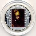 """Острова Кука 20 долларов 2010. """"Шедевры мирового искусства"""":""""Мужчина в золотом шлеме"""""""