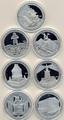 Берег Слоновой Кости 7х1500 франков 2010.7 чудес света (набор).