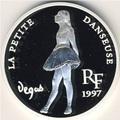 Сокровища музеев Европы. Маленькая Танцовщица. Франия 10 франков - 1,5 евро 1997.