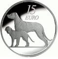 Ирландия 15 евро 2012. Ирландский волкодав . Ирландия 15 евро 2012.