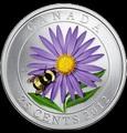 Канада 25 центов 2012. Шмель на астре.
