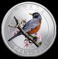 Канада 25 центов 2013. Странствующий дрозд