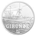 Франция 10 евро 2015.Пароход Жиронда (La Gironde) серия Великие Корабли Франции.Арт.60