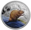 Канада 20 долларов 2015.Бобер за работой.