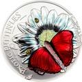 Танзания 1000 шиллингов 2016.Бабочка 3D - Красный Планер Хобарта (Cymothoe hobarti).Арт.60