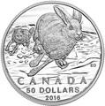Канада 50 долларов 2016.Заяц (Блистер).Арт.60